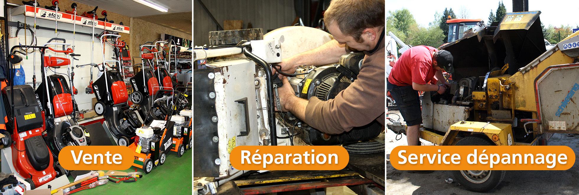 Vente, réparation et dépannage
